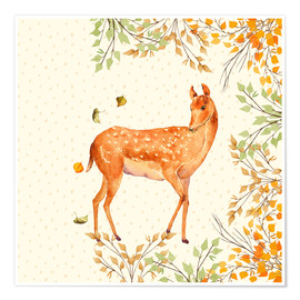 Plakat Magical Deer in Forest