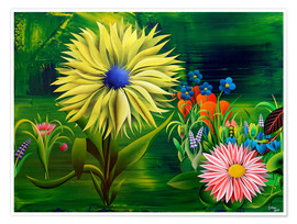 Plakat Flowers, abstract