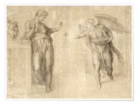 Plakat The Annunciation to Mary