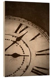 Obraz na drewnie  picture of an old vintage clock