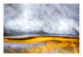 Plakat  Abstract Silver and Gold - Sander Grefte