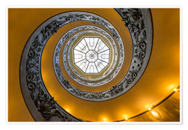 Plakat Spiral staircase in the Vatican Museum, Italy
