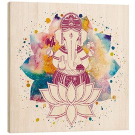 Obraz na drewnie  Ganesha in watercolors