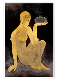 Plakat Perfume girl with a censer