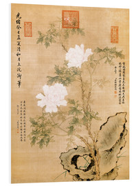Obraz na PCV  Peonies and Rock - Chinese School