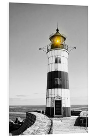 Obraz na PCV  Lighthouse with yellow light