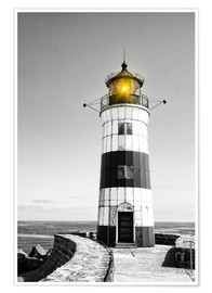 Plakat  Lighthouse with yellow light