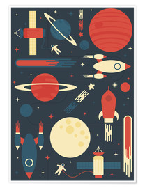 Plakat  Space Odyssey - Tracie Andrews