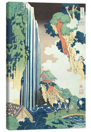 Obraz na płótnie  Ono Waterfall on the Kisokaid? - Katsushika Hokusai