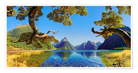 Plakat Look in the Milford Sound New Zealand