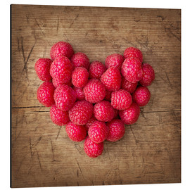 Obraz na aluminium  Heart from berries - Elena Schweitzer