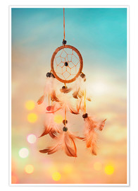 Plakat Dream catcher and abstract bokeh background