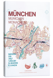 Obraz na płótnie  Munich city map - campus graphics