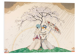 Obraz na PCV  Two women sheltering from the rain, under a tree - Georges Barbier