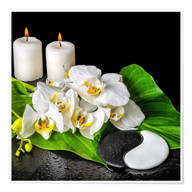Plakat  Spa Concept with Candles and Orchids