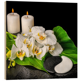 Obraz na drewnie  Spa Concept with Candles and Orchids