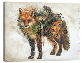 Obraz na płótnie  Surreal Fox Nature - Barrett Biggers