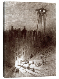 Obraz na płótnie  Martian Viewing Drunken Crowd - Henrique Alvim Correa