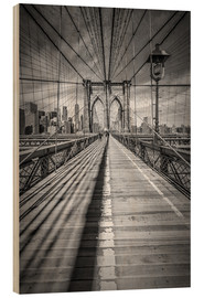 Obraz na drewnie  Brooklyn Bridge, New York City - Melanie Viola