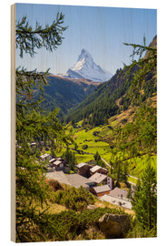 Obraz na drewnie  View of Zermatt and the Matterhorn, Swiss Alps, Switzerland - Jan Christopher Becke