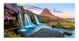 Plakat Magical Iceland, Waterfall on Snaefellsnes