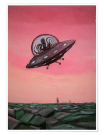 Plakat  Visit from space - Diego Manuel Rodriguez
