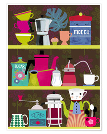 Plakat Shelf of a coffee lover
