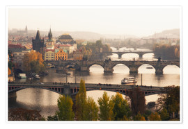 Plakat The bridges of Prague
