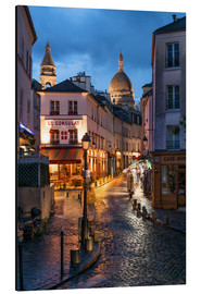 Obraz na aluminium  Street in Montmartre with Basilica of Sacre Coeur, Paris, France - Jan Christopher Becke