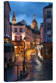 Obraz na płótnie  Street in Montmartre with Basilica of Sacre Coeur, Paris, France - Jan Christopher Becke