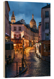 Obraz na drewnie  Street in Montmartre with Basilica of Sacre Coeur, Paris, France - Jan Christopher Becke