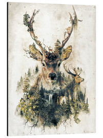 Obraz na aluminium  Deer nature, surrealism - Barrett Biggers