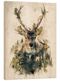 Obraz na drewnie  Deer nature, surrealism - Barrett Biggers