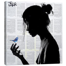 Obraz na płótnie  This has told me a little bird - Loui Jover