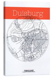 Obraz na płótnie  Duisburg map circle - campus graphics