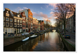 Plakat Amsterdam in the evening light