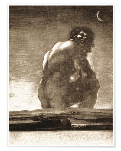 Plakat A Giant Seated in a Landscape, The Colossus