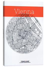 Obraz na płótnie  Vienna Map County - campus graphics