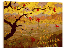 Obraz na drewnie  Apple Tree with Red Fruit - Paul Ranson