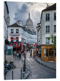 Obraz na szkle akrylowym  Streets of Montmartre and Sacre Coeur - Jan Christopher Becke