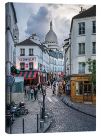 Obraz na płótnie  Streets of Montmartre and Sacre Coeur - Jan Christopher Becke