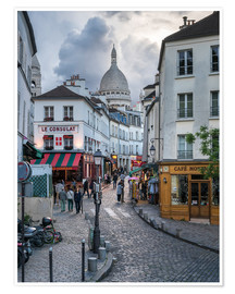 Plakat Streets of Montmartre and Sacre Coeur