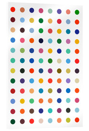Obraz na szkle akrylowym  Damien Tribute - Colourful polkadots - THE USUAL DESIGNERS
