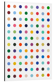 Obraz na aluminium  Damien Tribute - Colourful polkadots - THE USUAL DESIGNERS