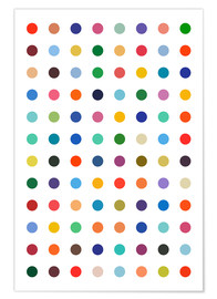 Plakat  Damien Tribute - Colourful polkadots - THE USUAL DESIGNERS
