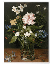 Plakat Still Life with Flowers in a Glass Vase