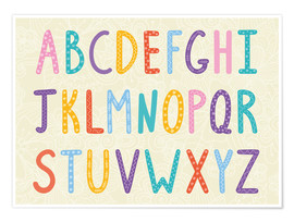 Plakat  Colorful ABC letters - Typobox