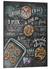 Obraz na aluminium  Chocolate chip cookies recipe. - Lily & Val