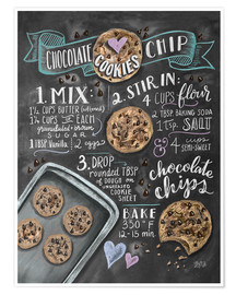 Plakat  Chocolate chip cookies recipe. - Lily & Val