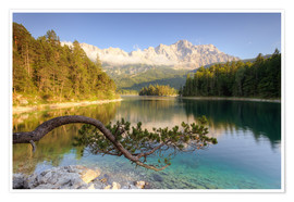 Plakat At the Eibsee in Bavaria